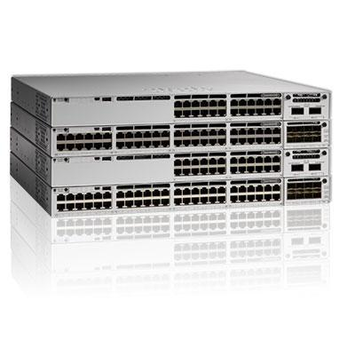 C9300-48P-A: Cisco Catalyst 9300 L3 Managed Rack Mount Switch - Network Advantage -  48 x 10/100/1000 - PoE+ (437 Watts)