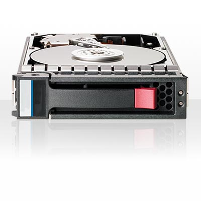 507284-001: HPE 300GB SAS hard disk drive 6Gb/sec transfer rate, 10,000 RPM, 2.5-inch small form factor (SFF), hot plug (HP), dual-port (DP)
