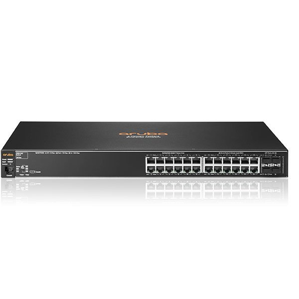 J9776A: HPE Aruba 2530-24G Switch Managed 24 x 10/100/1000 + 4 x Gigabit SFP desktop, rack-mountable, wall-mountable