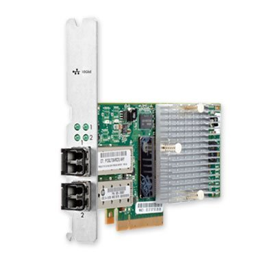 809799-001: HPE H6Z10A 2-Port 10Gb iSCSI/FCoE Small Form Factor Pluggable (SFP+) converged network adapter - Dual port 10 Gb/s throughput, hardware offload for FCoE and iSCSI performance