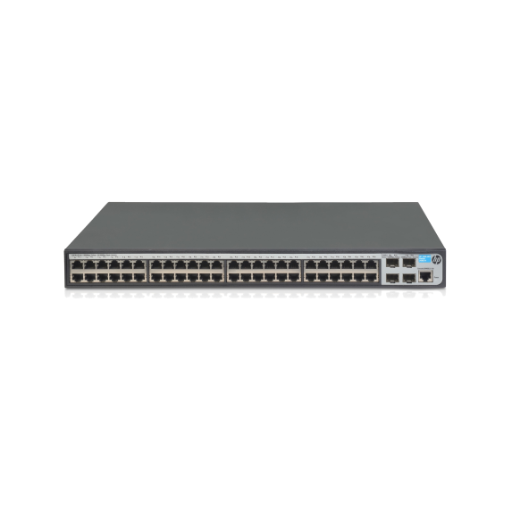 J9772A: HPE Aruba 2530-48G-PoE+ Switch Managed 48 x 10/100/1000 (PoE+) + 4 x Gigabit SFP desktop, rack-mountable, wall-mountable PoE+